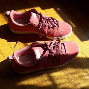 Pink adidas Women's Sneakers - Size 8